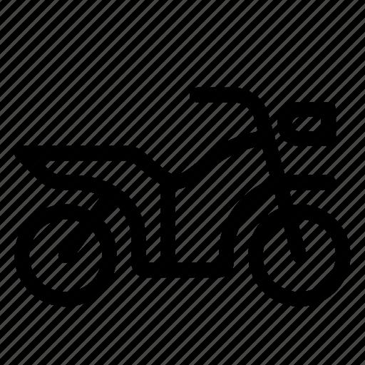 motor, motorcycle, transport, transportation, travel icon