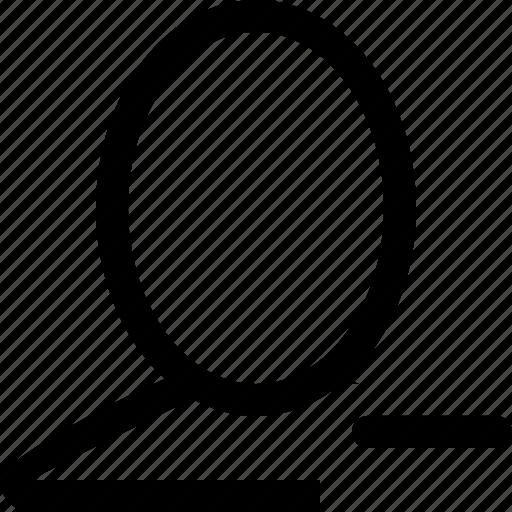 delete, remove, single, user icon