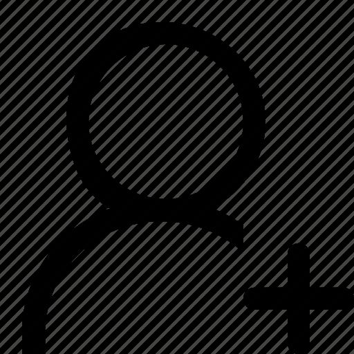 account, add, people, profile, single, user icon