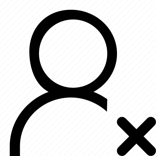 cross, delete, single, user icon