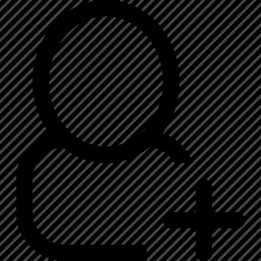 add, single, user icon