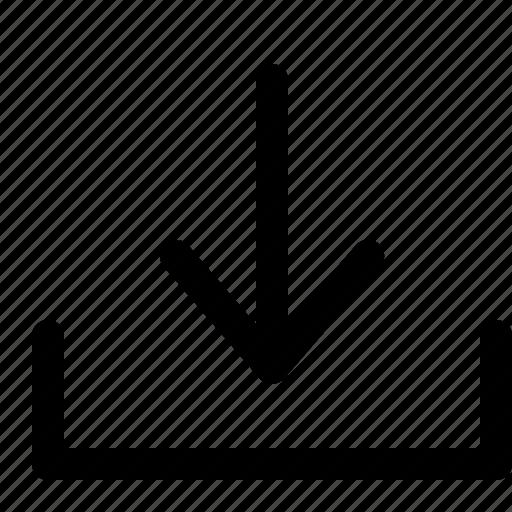 arrow, arrows, down, download, seo, web icon
