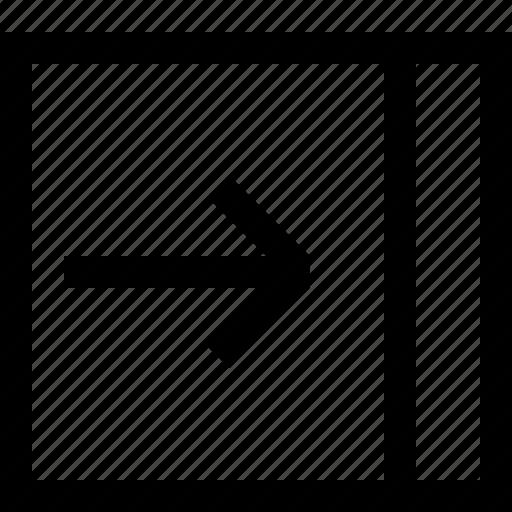 collapse, menu, right, web icon