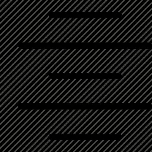 Ui, writing ui, center, alignment, writing icon
