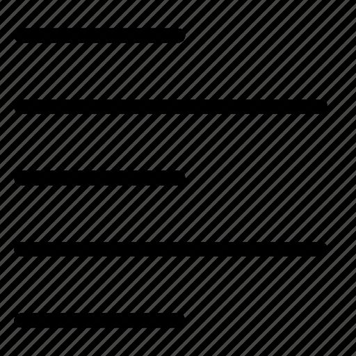 alignment, left, ui, writing, writing ui icon