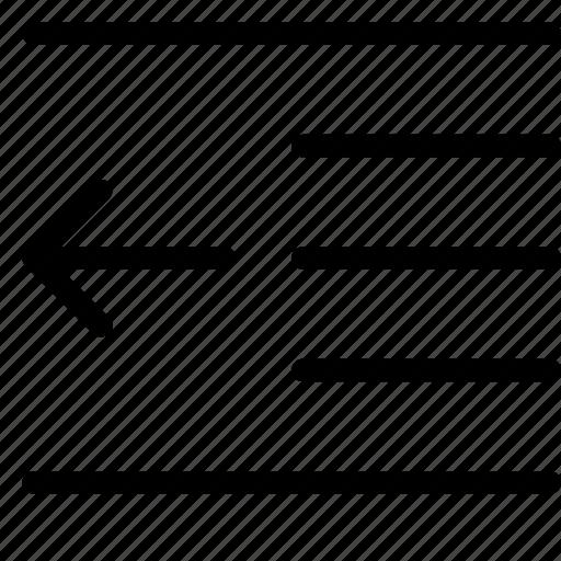 indent, left icon