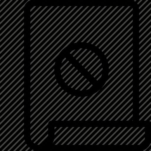 block, error, page icon