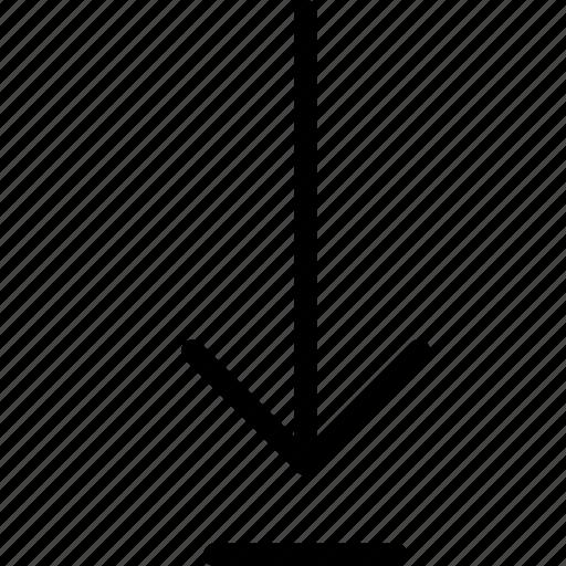 align, bottom, download, ui, vertical icon