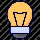 bulb, education, idea, knowledge, lamp, light icon