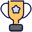 championship, education, knowledge, reward, star, trophy, victory icon