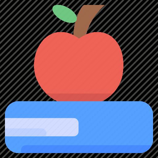 apple, education, knowledge, school icon