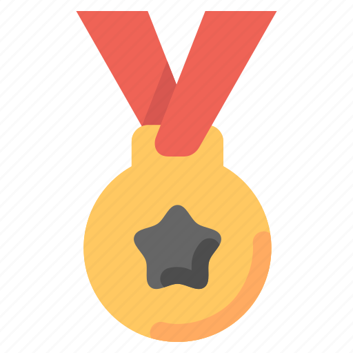 achievements, award, education, gold, medal, stars icon