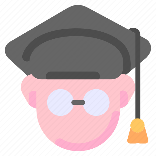 education, graduate, graduation, hat, student icon