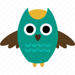 animal, bird, bugs, forest, owl, pet, tree icon