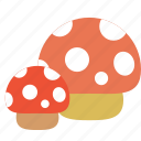bug, bugs, forest, mushroom, tree icon
