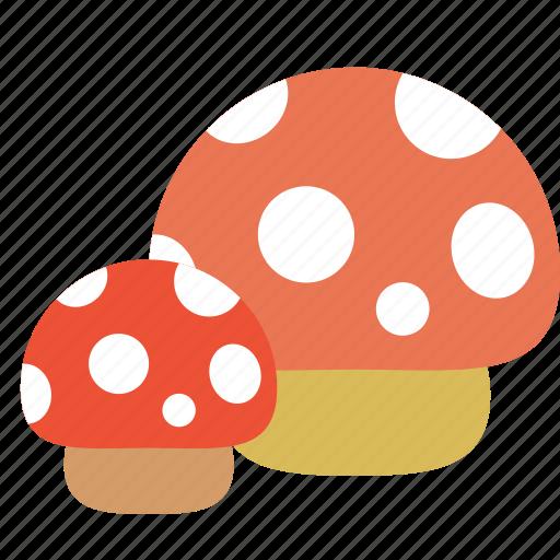 bug, bugs, forest, mushroom, tree icon