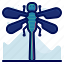 bug, dragonfly, insect, wildlife icon