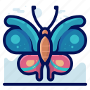 beauty, bug, butterfly, insect, wildlife icon