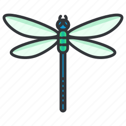 beauty, bug, dragonfly, nature, wildlife icon