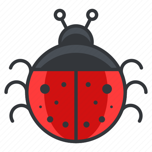 bug, cute, ladybug, nature, wildlife icon