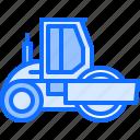 asphalt, builder, building, car, construction, repair, roller icon