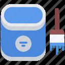 brush, builder, building, construction, paint, repair icon
