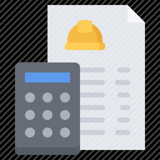 builder, building, calculator, construction, estimate, repair icon