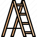 builder, building, construction, ladder, repair icon