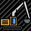 builder, building, car, construction, excavator, repair icon