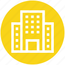 apartment, building, center, office