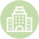 apartment, building, city, school