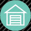 building, garage, house, storage, warehouse