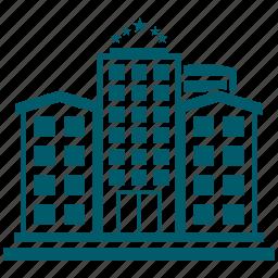 building, city, hotel icon
