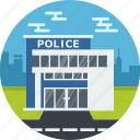 building, construction, cop, crime, law, police icon