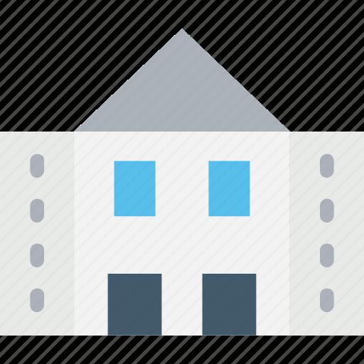 building, courthouse, farm house, storehouse, warehouse icon