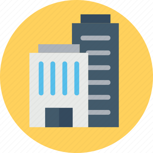 apartment, commercial building, mall, modern building, office building, skyscraper icon