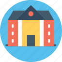 college, courthouse, historic building, library, museum, school icon