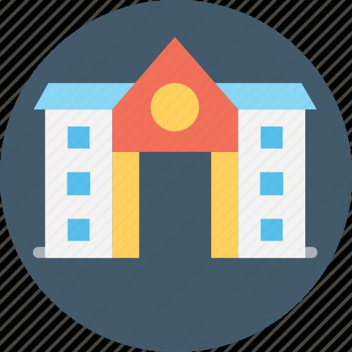 architecture, historical building, memorial, museum, school icon