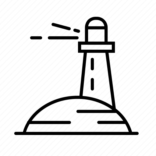 beach, light house, lighthouse icon