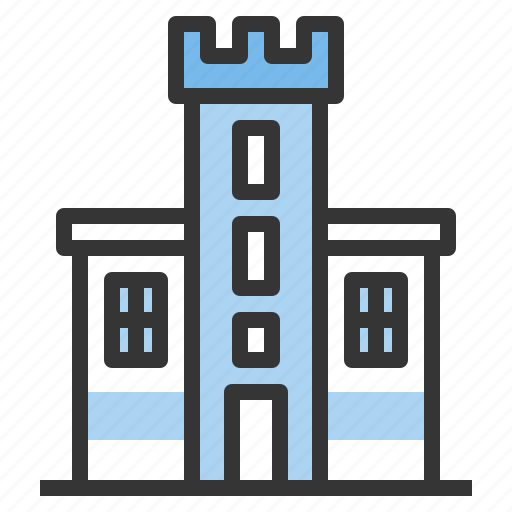 building, castle, city, office, real estate icon