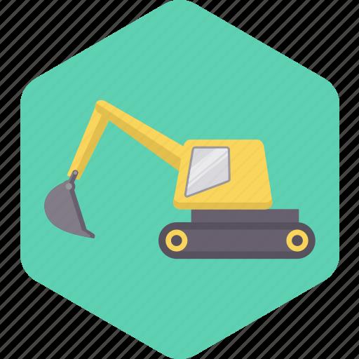 building, construction, crane, tool, transport, vehicle, work icon