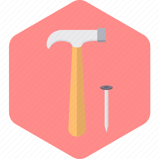construction, house, hummer, repair, setting, tools icon