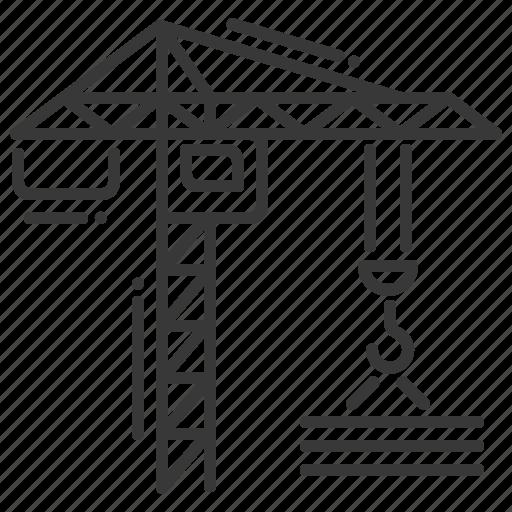building materials, construction, crane, craning icon