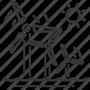 turbine, wind energy, wind power, windmill icon