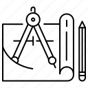 blueprint, building, construction, repair icon