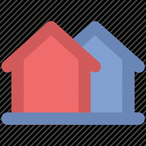 bungalows, cabins, cottages, dwellings, houses, villas icon