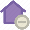 home, house, real estate, remove sign, villa icon