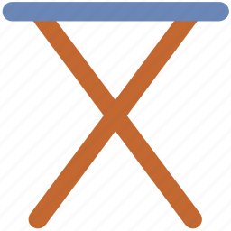 empty, folding table, iron board, ironing board, ironing equipment icon