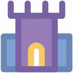 building, castle, citadel, fortress, historical building, tower icon