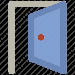 door, entrance, exit, home door, opened door icon